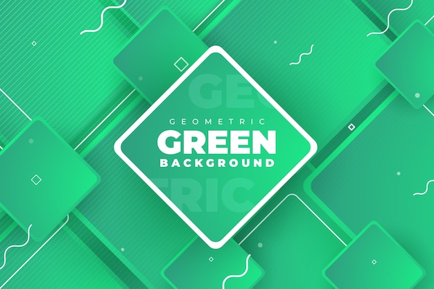 Fondo verde abstracto geométrico