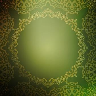 Fondo verde abstracto de lujo real