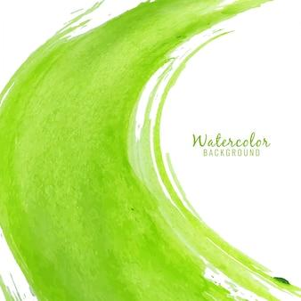 Fondo verde abstracto de manchas de acuarela