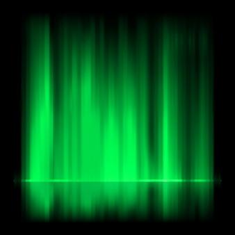 Fondo verde de la aurora boreal.