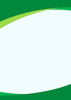 Fondo verde en blanco simple