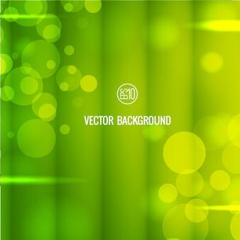 Fondo verde borroso abstracto con luces bokeh
