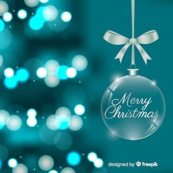Fondo verde borroso de navidad