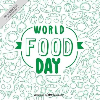 Fondo verde del día mundial de la comida