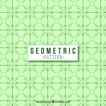 Fondo verde con estilo y con patrón geométrico