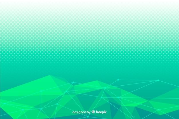 Fondo verde formas geométricas abstractas
