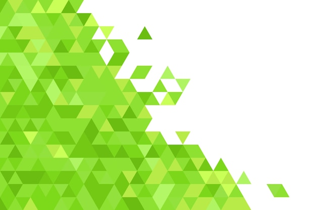 Fondo verde de formas geométricas