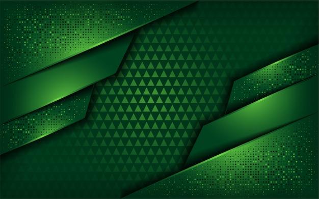 Fondo verde de lujo con capa superpuesta