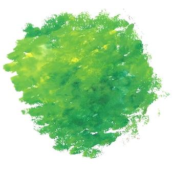 Fondo verde de manchas de acuarela