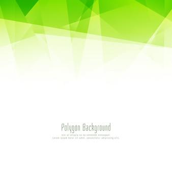 Fondo verde moderno abstracto del diseño del polígono
