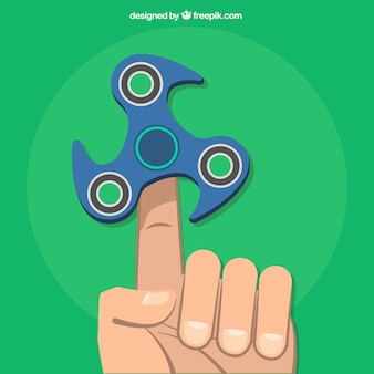 Fondo de verde de moderno spinner