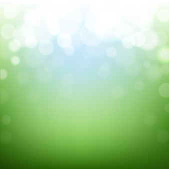 Fondo verde de la naturaleza con bokeh