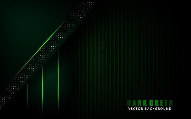 Fondo verde oscuro moderno con decoración de elementos de puntos brillos