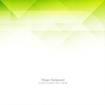 Fondo verde poligonal elegante