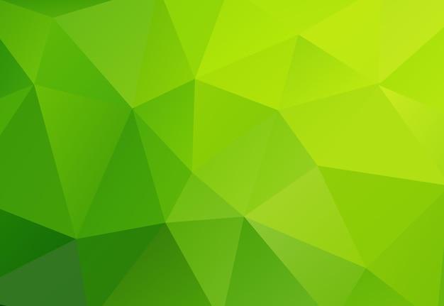 Fondo verde polígono geométrico