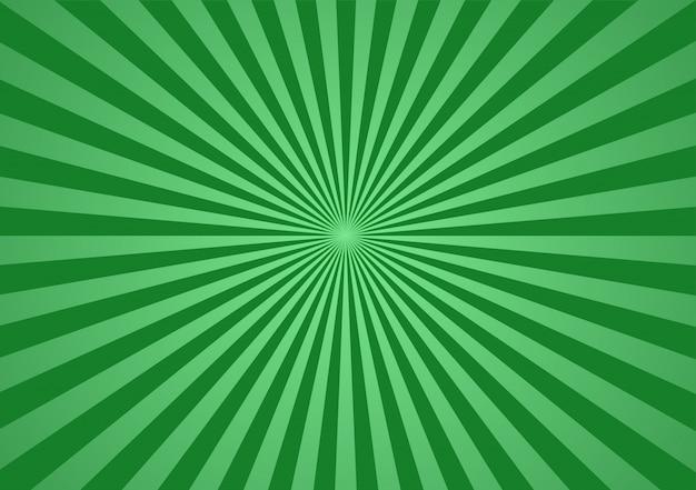 Fondo verde del resplandor solar