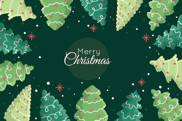 Fondo verde con tema de navidad