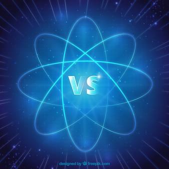 Fondo de versus con átomo