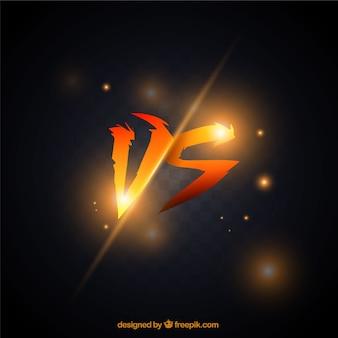 Fondo de versus naranja