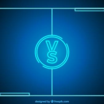 Fondo de versus de neón con círculo