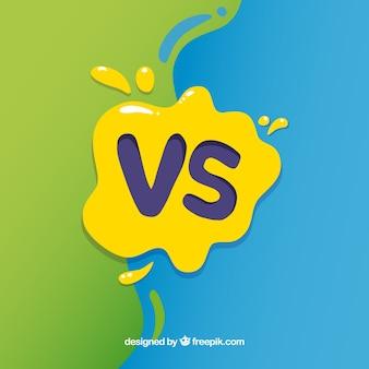 Fondo de versus con salpicadura de pintura