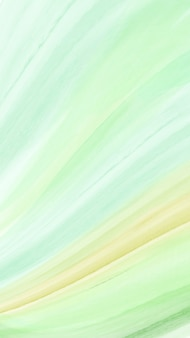 Fondo vertical abstracto moderno creativo con pincel de acuarela verde brillante de onda.