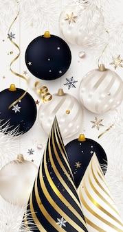Fondo vertical de año nuevo feliz navidad