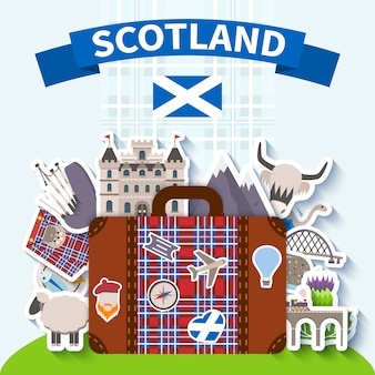 Fondo de viaje de escocia