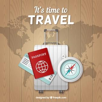 Fondo de viaje en estilo realista