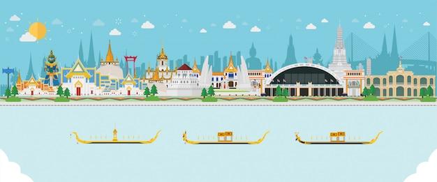 Fondo de viaje con paisaje tailandés