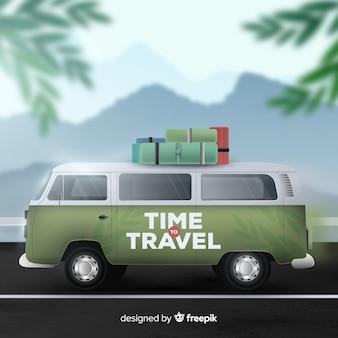 Fondo de viaje de papel realista