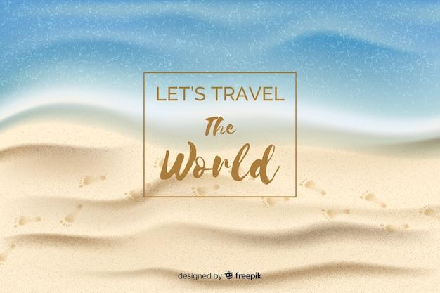 Fondo de viaje realista