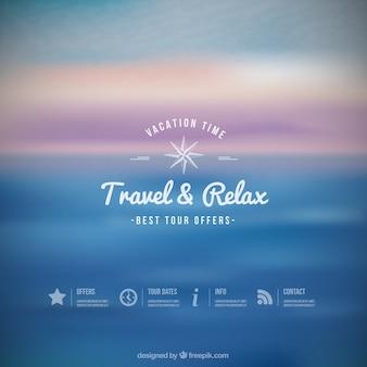 Fondo de viaje y relajarse