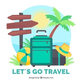 Fondo de viaje de verano
