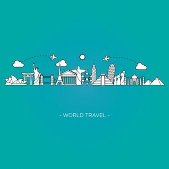 Fondo de viajes por el mundo