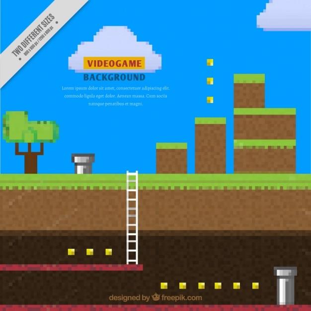 Fondo de videojuego pixelado