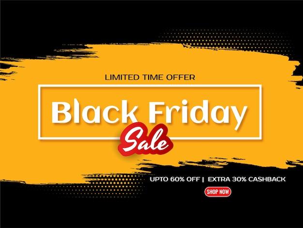 Fondo para el viernes negro con diseño de salpicaduras amarillas