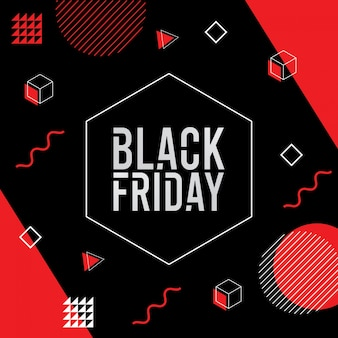 Fondo de viernes negro estilo memphis