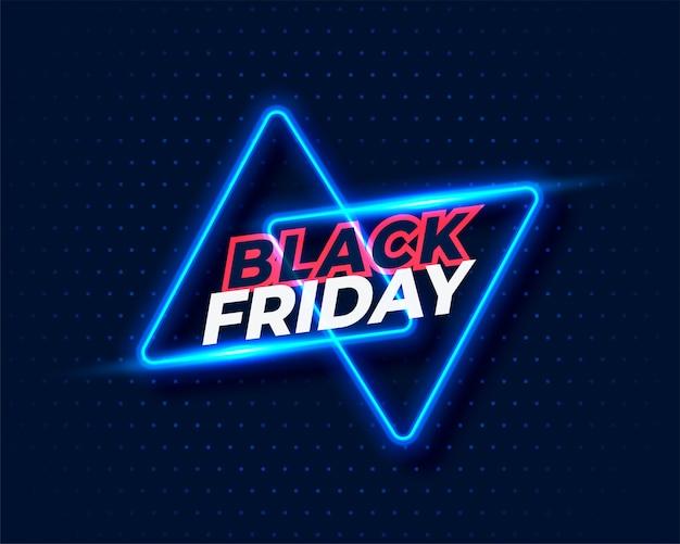 Fondo de viernes negro estilo neón