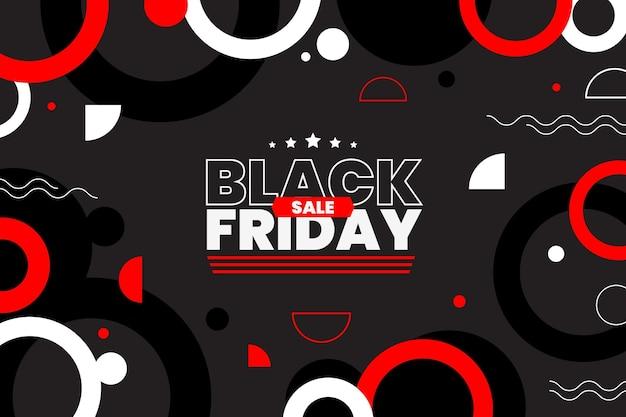 Fondo de viernes negro geométrico plano
