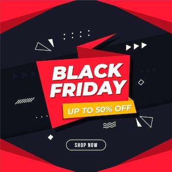 Fondo de viernes negro con oferta