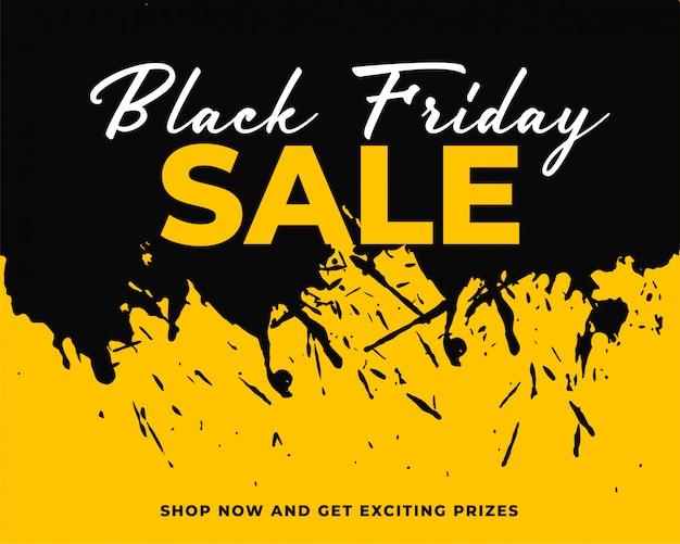 Fondo de viernes negro de salpicaduras de tinta abstracta