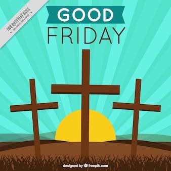 Fondo de viernes santa con cruces