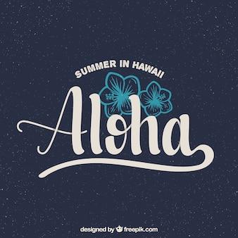 Fondo vintage de aloha