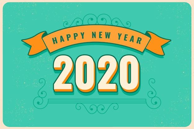 Fondo vintage año nuevo 2020