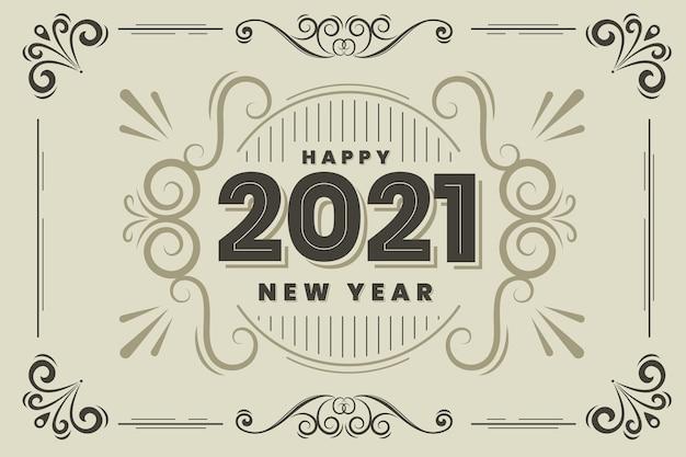 Fondo vintage año nuevo 2021