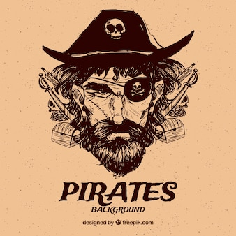 Fondo vintage de capitán pirata