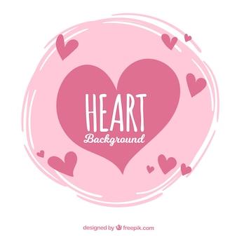Fondo vintage de corazones