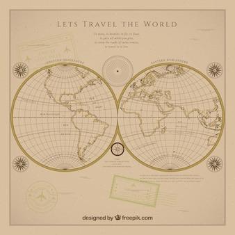 Fondo vintage de viajar