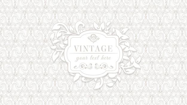 Fondo vintage ornamental